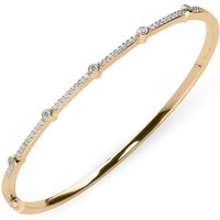 18ct Rose Gold 0.35ct Diamond Hinged Bangle