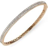 18ct Rose Gold 1.87ct Diamond Hinged Bangle