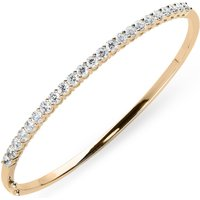 18ct Rose Gold 2.02ct Diamond Hinged Bangle