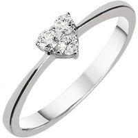 18ct White Gold 0.14ct Diamond Three Stone Heart Ring