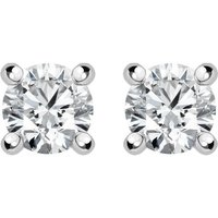18ct White Gold 0.30ct Diamond Solitaire Stud Earrings