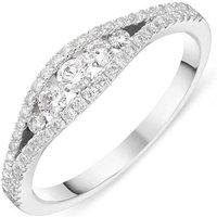 18ct White Gold 0.45ct Diamond Vintage Style Ring