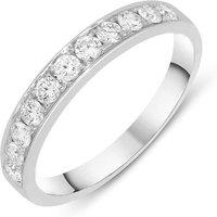 18ct White Gold 0.50ct Diamond Brilliant Cut Half Eternity Ring