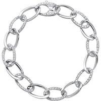 18ct White Gold 0.94ct Diamond Chain Bracelet