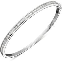 18ct White Gold 1.01ct Diamond Stone Slot Bangle
