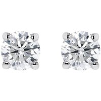 18ct White Gold 1.03ct Diamond Solitaire Stud Earrings