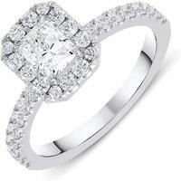 18ct White Gold 1.05ct Diamond Halo Ring