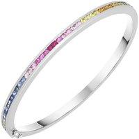 18ct White Gold 1.76ct Rainbow Sapphire Bangle