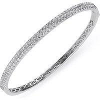 18ct White Gold 1.87ct Diamond Hinged Bangle