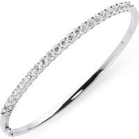 18ct White Gold 2.02ct Diamond Hinged Bangle
