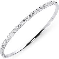18ct White Gold 2.02ct Diamond Hinged Bangle