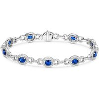 18ct White Gold 5.03ct Sapphire 1.96ct Diamond Bracelet