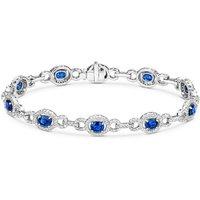 18ct White Gold 5.03ct Sapphire 1.96ct Diamond Bracelet