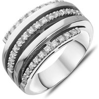 18ct White Gold Diamond Five Band Ring