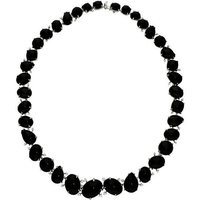 18ct White Gold Whitby Jet 0.79ct Diamond Necklace