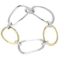 18ct White And Rose Gold Diamond Link Bracelet