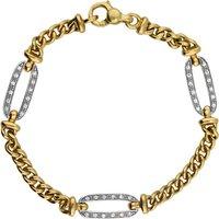 18ct Yellow And White Gold 0.18 Carat Diamond Bracelet