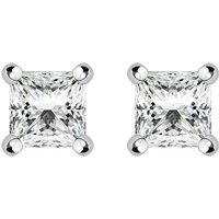 18ct Yellow Gold 0.32ct Diamond Solitaire Princess Cut Stud Earrings