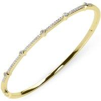 18ct Yellow Gold 0.35ct Diamond Hinged Bangle