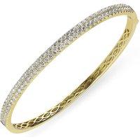 18ct Yellow Gold 1.87ct Diamond Hinged Bangle