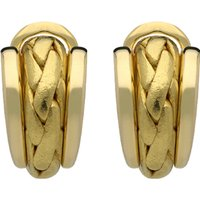 18ct Yellow Gold Plaited Stud Earrings