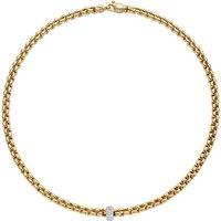 Fope FlexIt Eka 18ct Yellow Gold 0.37ct Diamond Necklace