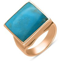 9ct Rose Gold Turquoise Small Square Ring