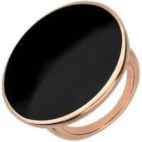 9ct Rose Gold Whitby Jet Round Ring