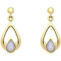 9ct Yellow Gold Opal Pear Tear Drop Earrings