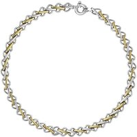 9ct White Gold Single Links Handmade Chain Necklace