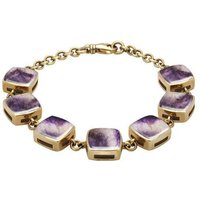 9ct Yellow Gold Blue John Cushion Bracelet