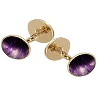 9ct Yellow Gold Blue John Four Stone Chain Cufflinks