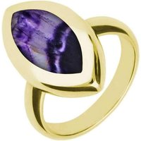 9ct Yellow Gold Blue John Framed Marquise Ring