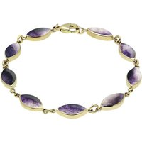 9ct Yellow Gold Blue John Marquise Bracelet
