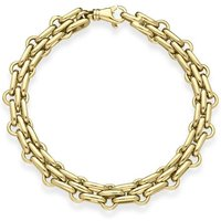 9ct Yellow Gold Chain Double Link Handmade Bracelet