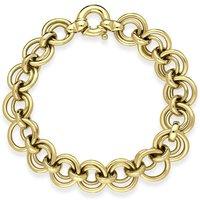9ct Yellow Gold Circle Linked Handmade Bracelet