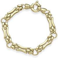 9ct Yellow Gold Double Bent Links Handmade Bracelet