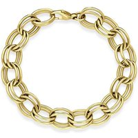 9ct Yellow Gold Double Link Handmade Bracelet