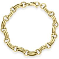 9ct Yellow Gold Double Linked Handmade Bracelet