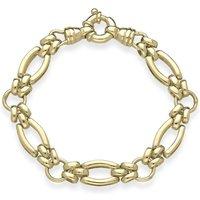 9ct Yellow Gold Double Links Handmade Bracelet