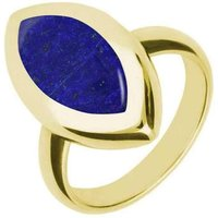 9ct Yellow Gold Lapis Lazuli Framed Marquise Ring