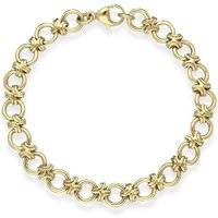 9ct Yellow Gold Linked Handmade Bracelet