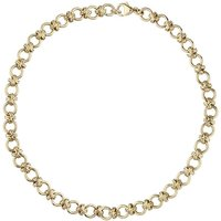 9ct Yellow Gold Linked Handmade Chain Necklace