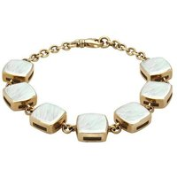9ct Yellow Gold Mother of Pearl Cushion Bracelet