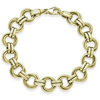 9ct Yellow Gold Multi-Link Handmade Bracelet