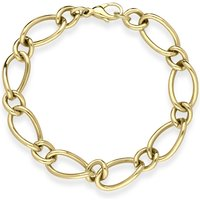 9ct Yellow Gold Oval Link Handmade Bracelet