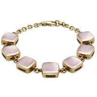 9ct Yellow Gold Pink Mother of Pearl Cushion Bracelet