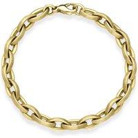 9ct Yellow Gold Single Link Handmade Bracelet