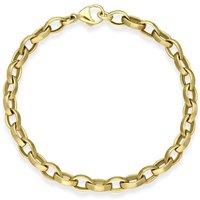 9ct Yellow Gold Small Links Handmade Bracelet