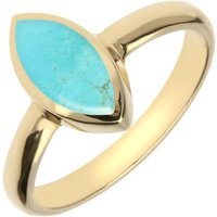 9ct Yellow Gold Turquoise Marquise Ring